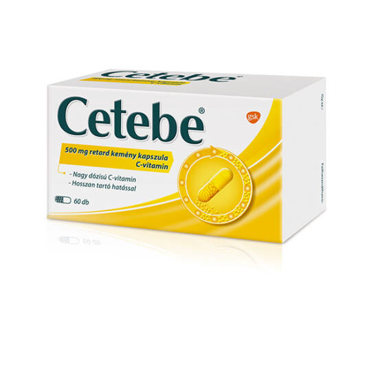 Cetebe 500 mg retard kemény kapszula 60x