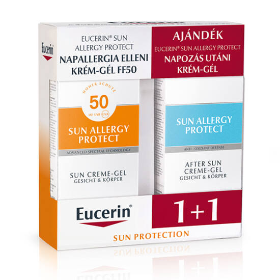 Eucerin Sun csomag napallergiára - FF50+napozás utáni krémgél