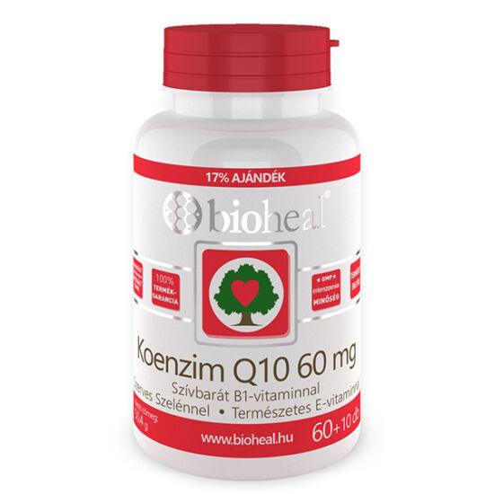 Bioheal Koenzim Q10 60 mg Szelénnel E-vitaminnal és B1-vitaminnal 70x