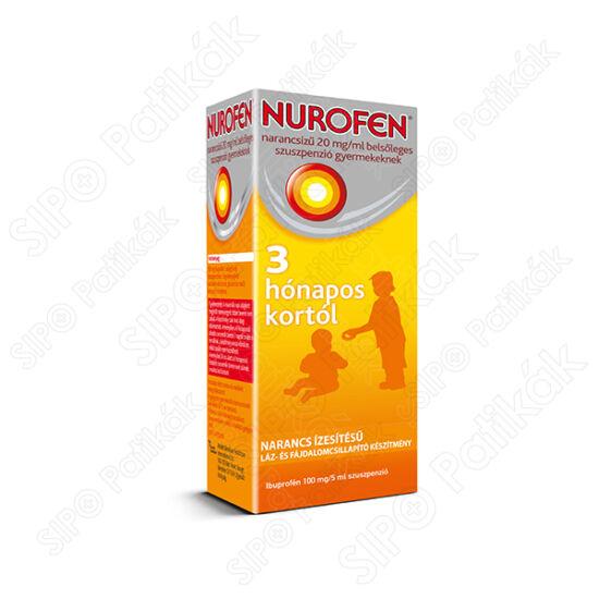 Nurofen narancsíz? 20 mg/ml bels?leges szuszpenzió gyermekeknek 100ml