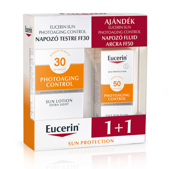 Eucerin Sun csomag -  PC napozó arcra és testre