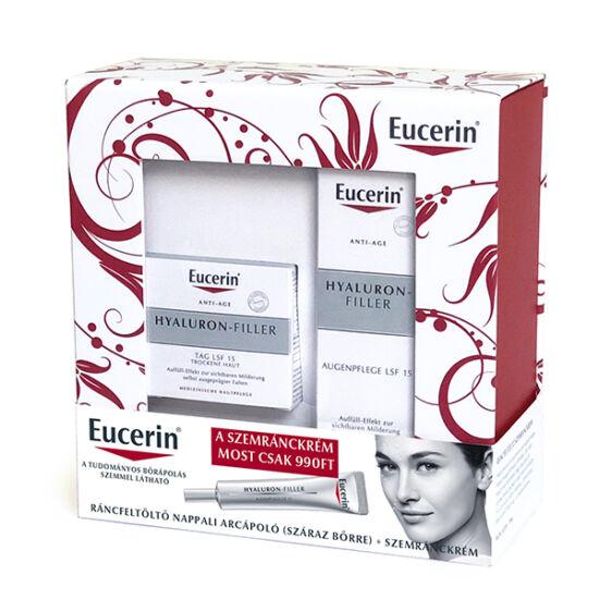 Eucerin Hyaluron-Filler csomag (krém száraz bőrre+szemránckrém)