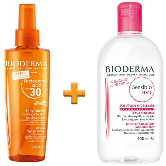 Bioderma Photoderm Fashion csomag - Fényvédő spray + Micellás arclemosó