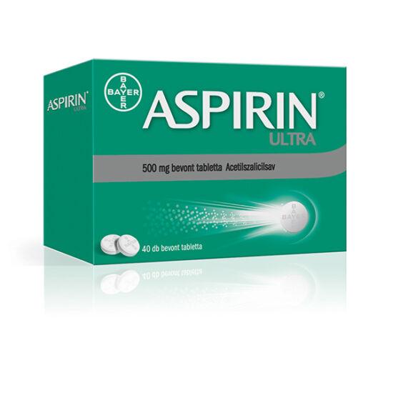 Aspirin Ultra 500 mg bevont tabletta (40x)