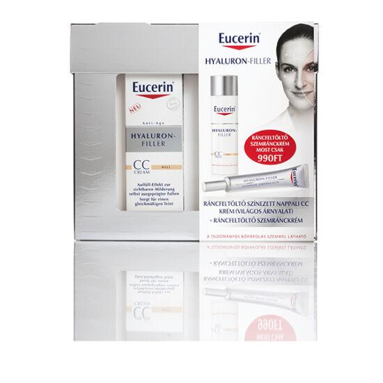 Eucerin Hyaluron-Filler Ráncfeltölt? színezet nappali + CC színezett arckrém világos árnyalat 50ml