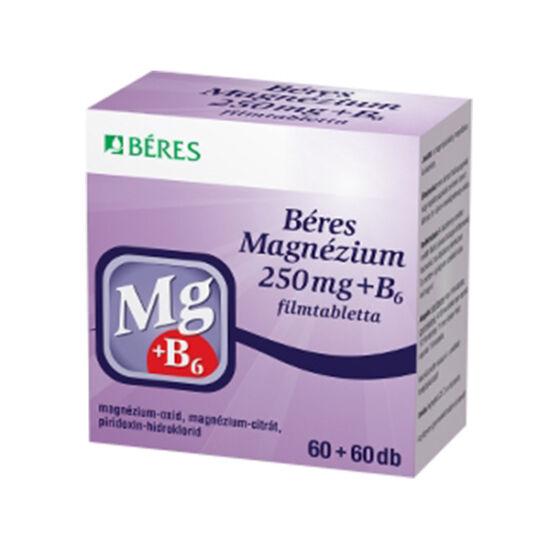 BÉRES MAGNÉZIUM 250 mg + B6 filmtabletta 120x