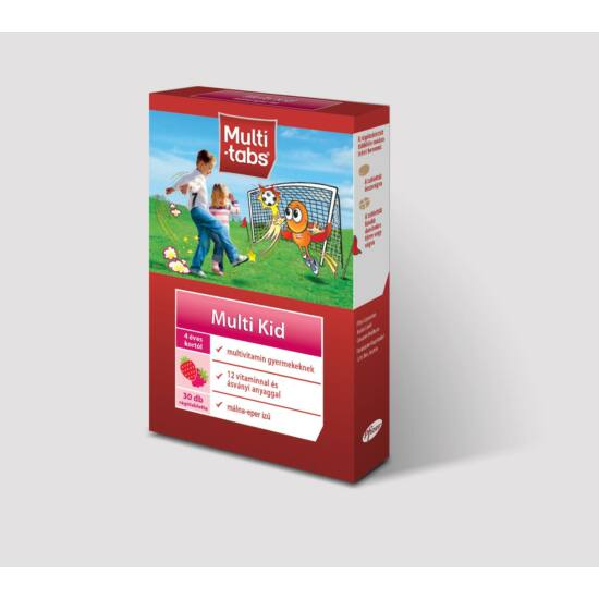 Multi-tabs® Multi Kid Málna-Eper 30x