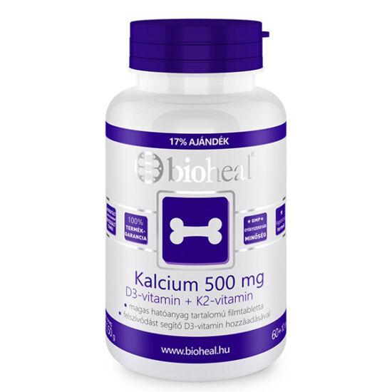 Bioheal Kalcium 500mg+D3- vitamin+K2 -vitamin
