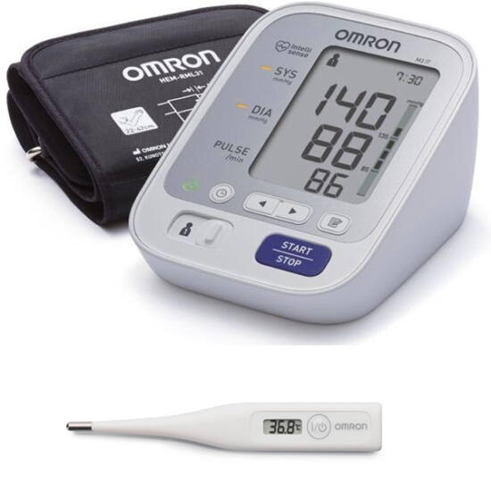 OMRON M3 felkaros vérnyomásmér? + ajándék Eco Temp Basic lázmér?