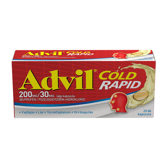 Advil Cold Rapid 200 mg/30 mg kapszula 20x