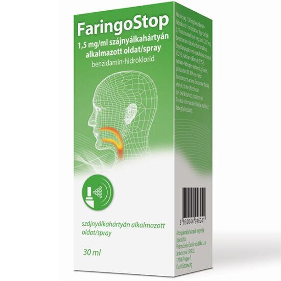 FaringoStop 1,5 mg/ml szájnyálkahártyán alk.oldat/spray 30ml