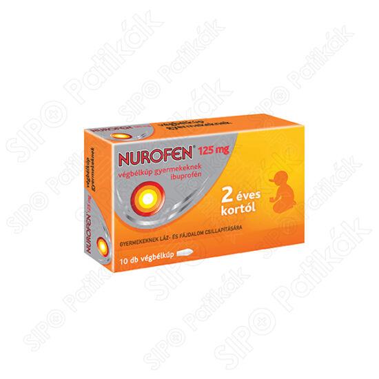 Nurofen 125 mg végbélkúp gyermekeknek
