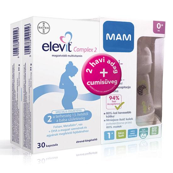 Elevit Complex 2 kapszula 2x30x + MAM cumisüveg 160 ml