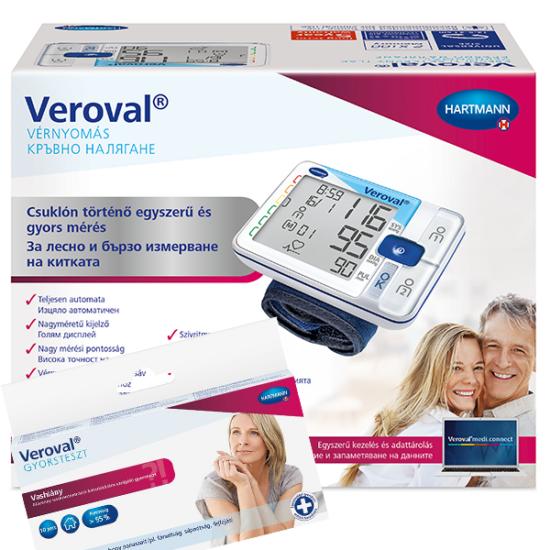 Veroval automata vérnyomásmérő csuklóra +ajándék Vas gyorsteszt