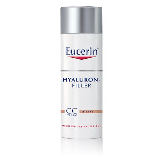 Eucerin Hyaluron-Filler Ráncfeltöltő színezett nappali CC krém medium árnyalat 50ml