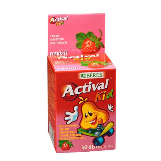 Actival Kid rágótabletta eper íz?