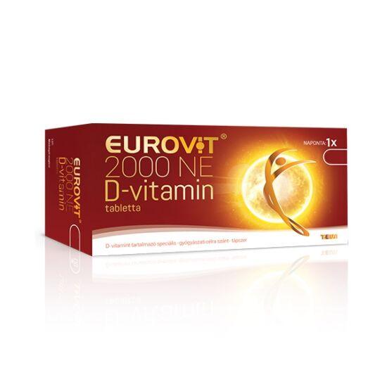 Eurovit D-vitamin 2000NE spec. tápszer tabletta 60x