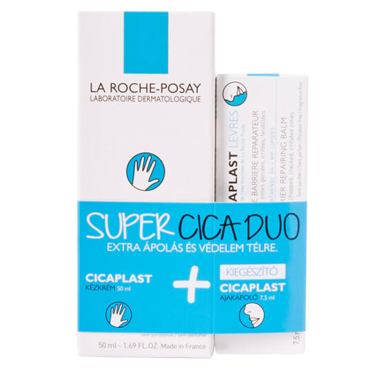 La Roche-Posay Cicaplast kézkrém + ajakápoló 50+7,5ml