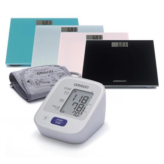 OMRON M2 automata vérnyomásmér?+digitális személymérleg több színben