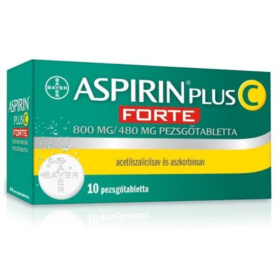 Aspirin Plus C Forte pezsgőtabletta 800 mg/480 mg 10x