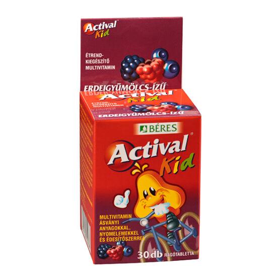 Actival Kid rágótabletta erdei gyümölcs íz?