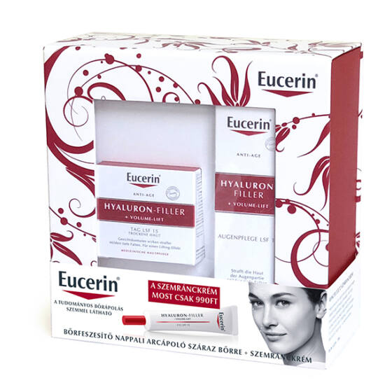 Eucerin Hyaluron-Filler+Volume csomag (arckrém száraz bőrre+szemránckrém)