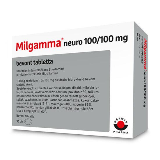 Milgamma neuro 100/100 mg bevont tabletta 30x