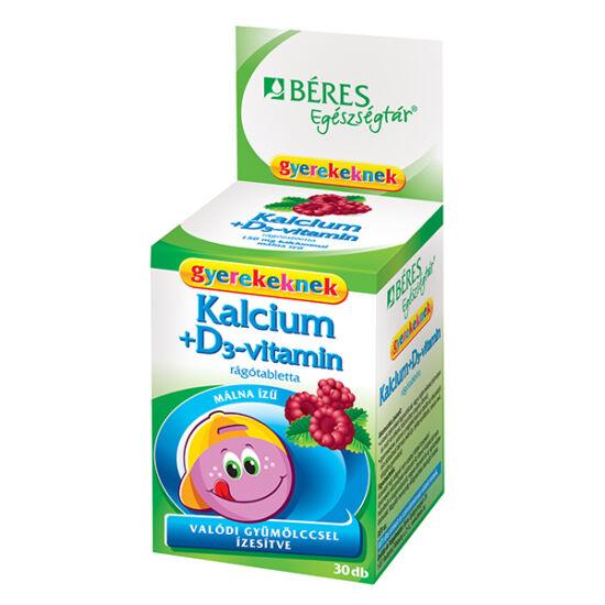 Béres Egészségtár Kalcium + D3-vitamin rágótabletta gyermekeknek