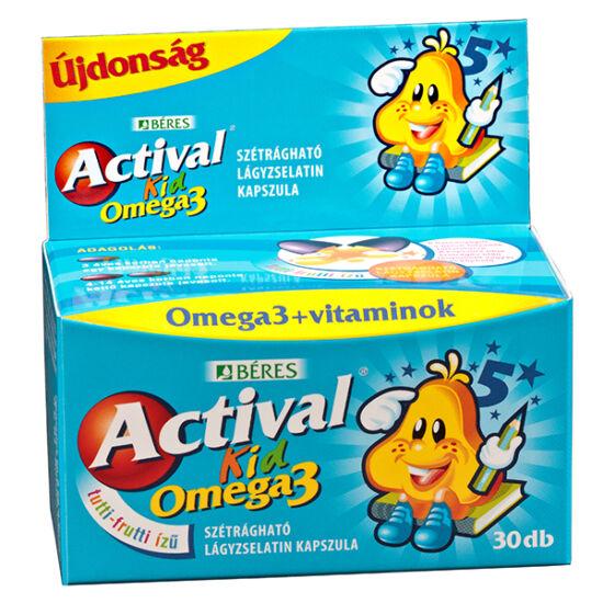 Actival Kid Omega-3 szétrágható kapszula 30x