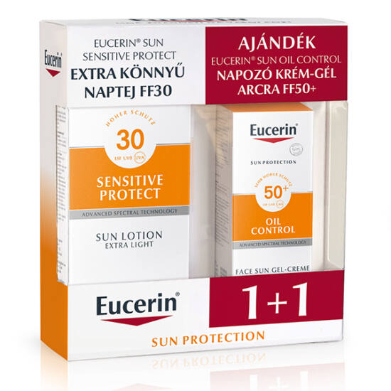 Eucerin Sun csomag - Naptej FF30+Oil Control gél FF50 150ml+50ml