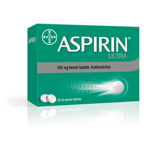 Aspirin Ultra 500 mg bevont tabletta (20x)