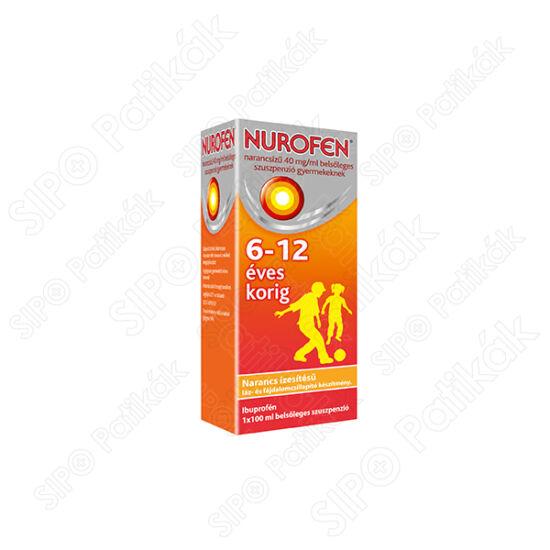 Nurofen narancsíz? 40 mg/ml bels?leges szuszpenzió gyermekeknek 100ml