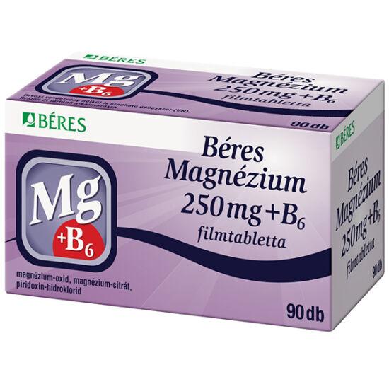 BÉRES MAGNÉZIUM 250 mg + B6 filmtabletta 90x