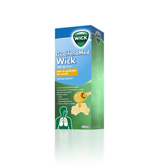 GUAIFENOMED WICK 200 mg/15 ml méz és gyömbér ízû szirup