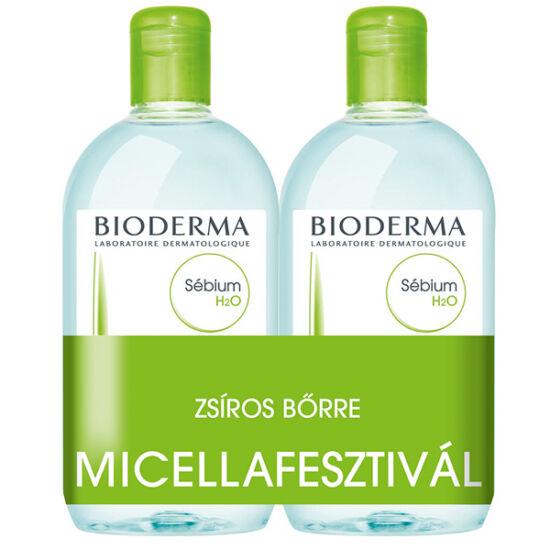 BIODERMA Sébium H2O mélytisztító zsíros bőrre DUO 2x500ml