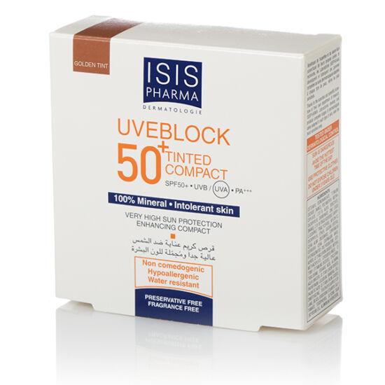 ISIS Uveblock Compact SPF 50+ Kompakt púder sötét árnyalat 10g