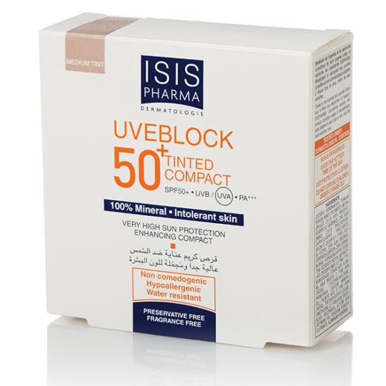 ISIS Uveblock Compact SPF 50+ Kompakt púder világos árnyalat 10g
