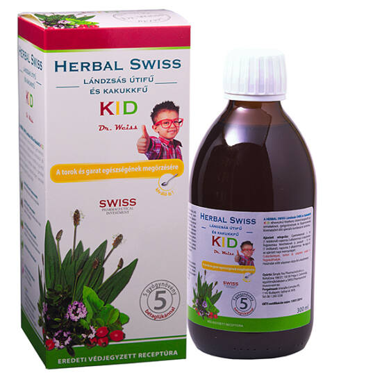 Herbal Swiss KID lándzsás útifű és kakukkfű szirup 150ml
