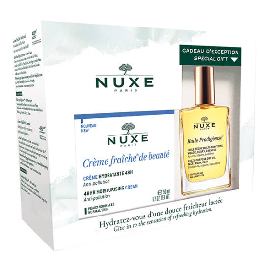 Nuxe Creme Fraiche szett - 48 órás hidratáló arckrém csomag normál bőrre