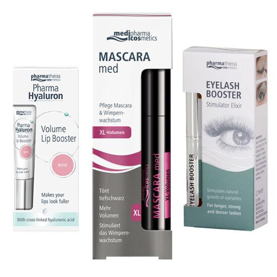 Mascara Med XL csomag - szem.spirál+szérum+rosé-ajakáp.