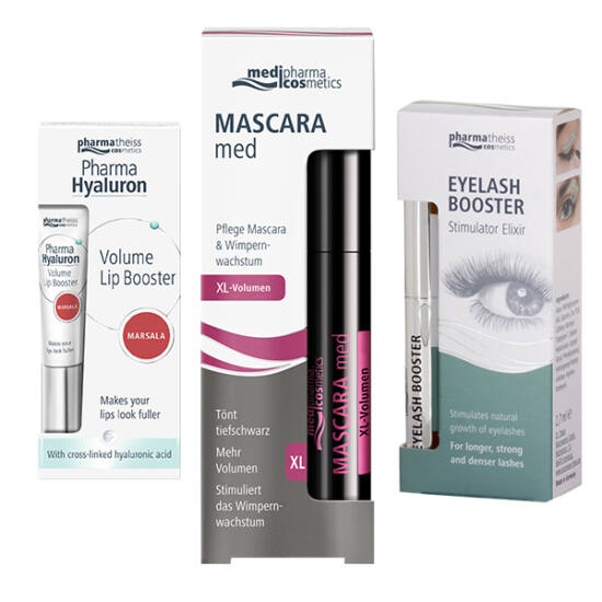 Mascara Med XL csomag - szempillaspirál-szérum-ajakápoló