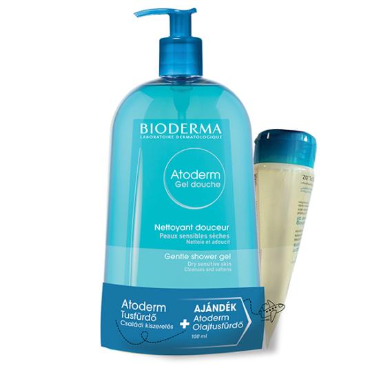 Bioderma Atoderm Tusfürdő csomag - (Tusfürdő+Olajtusfürdő)