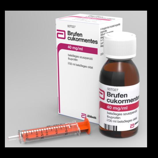 Brufen cukormentes 40 mg/ml bels?leges szuszpenzió (200ml)