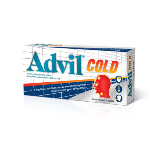 Advil Cold 200 mg/30 mg bevont tabletta (10x)