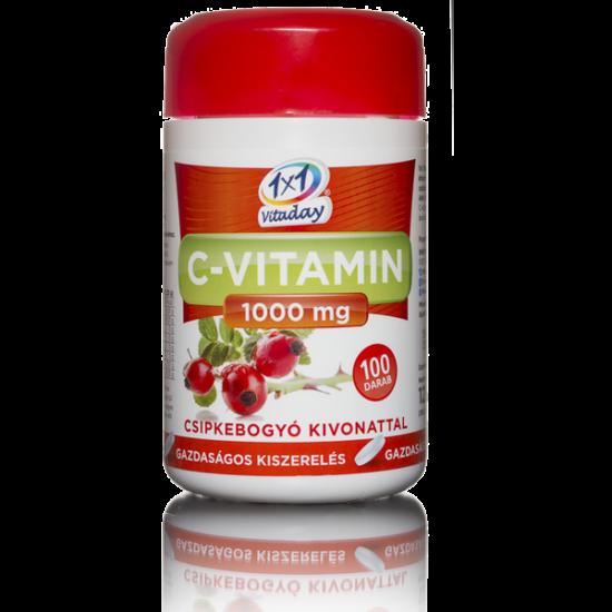 1x1 Vitaday C-vitamin 1000 mg csipkebogyó filmtabl (100x)