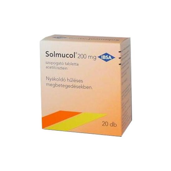 Solmucol 200 mg szopogató tabletta (20x)