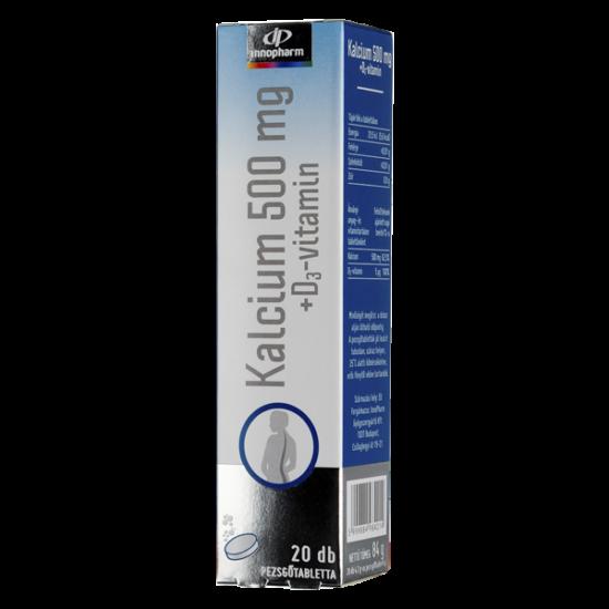 Innopharm Calcium 500 mg+D3-vitamin pezsg?tabletta (20x)