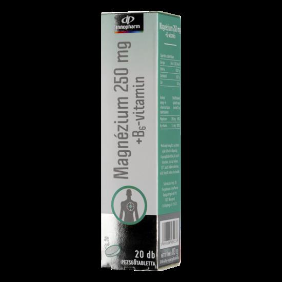 Innopharm Magnesium 250mg+B6-vitamin pezsg?tabl. (20x)