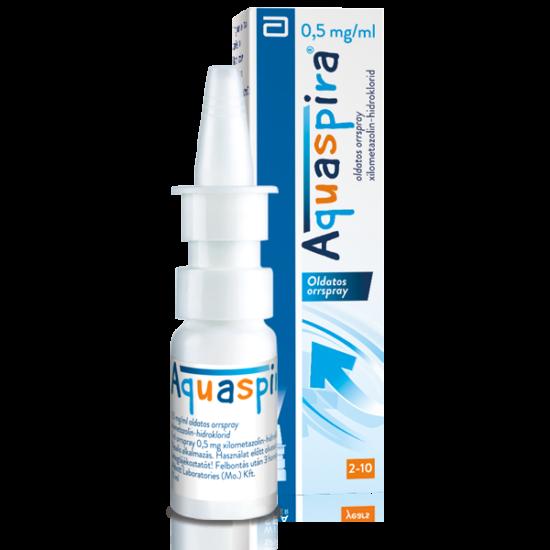Aquaspira 0,5 mg/ml oldatos orrspray (10ml)