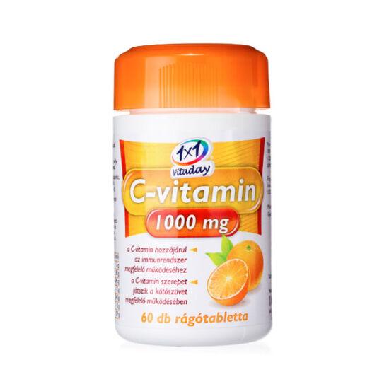 1x1 Vitaday C-vitamin 1000 mg rágótabletta narancs (60x)